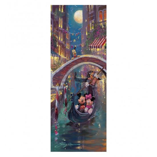 Puzzle 1000 pièces vertical : Mickey et Minnie à Venise - Ravensburger-15055