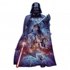 Puzzle 1098 pièces : Silhouette : Star Wars : Dark Vador