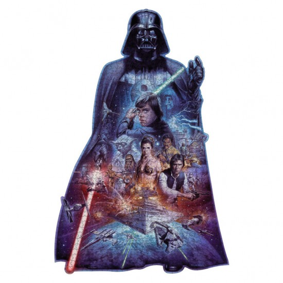 Puzzle 1098 pièces : Silhouette : Star Wars : Dark Vador - Ravensburger-16158