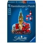 Puzzle 1155 pièces : Silhouette : Big Ben Londres
