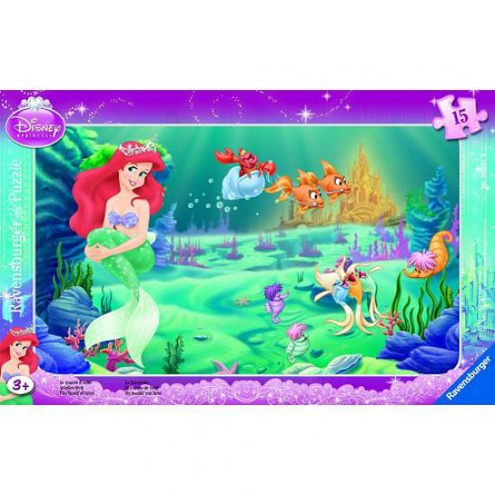 Puzzle cadre : 15 pièces : Le monde d'Ariel - Ravensburger-06031