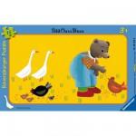 Puzzle 15 pièces - Petit Ours brun à la ferme