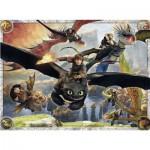 Puzzle 150 pièces XXL : Dragons : En formation de vol