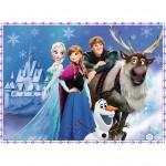 Puzzle 150 pièces XXL : La Reine des Neiges (Frozen) : Les amis au palais