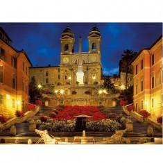 Puzzle 1500 pièces - Place d'Espagne à Rome, Italie