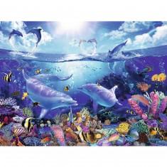 Puzzle 1500 pièces : Lassen : Dauphins joueurs