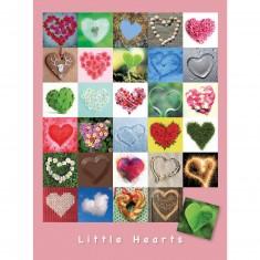Puzzle 1500 pièces : Mosaïque Coeurs