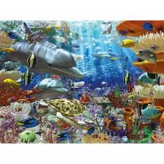 Puzzle 1500 pièces : Vie sous-marine