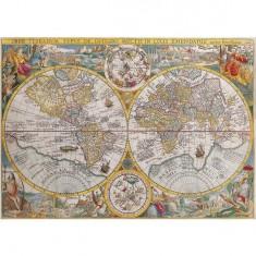 Puzzle 1500 pièces - Mappemonde en 1594