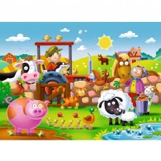 Puzzle 16 pièces : Les amis de la ferme