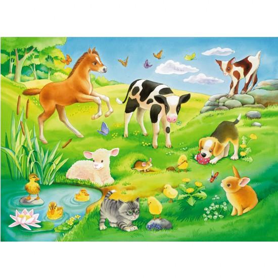 Puzzle 16 pièces : Bébés animaux - Ravensburger-05407