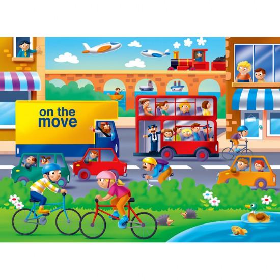 Puzzle 16 pièces : On se bouge - Ravensburger-07110
