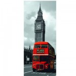 Puzzle 170 pièces panoramique - Taxi Londonien