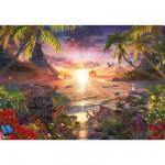 Puzzle 18000 pièces : Coucher de soleil céleste