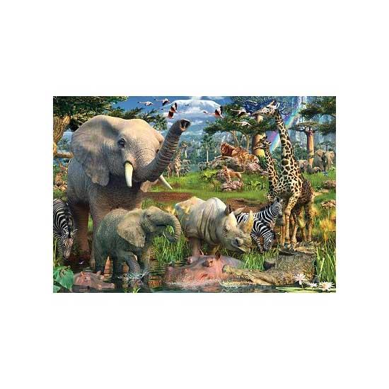 Puzzle 18000 pièces - Au point d'eau - Ravensburger-17823