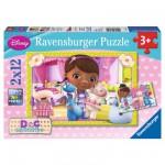 Puzzle 2 x 12 pièces : Docteur la peluche : La clinique des jouets