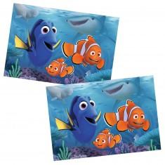 Puzzle 2 x 12 pièces : Le monde de Nemo : Dory se promène en mer
