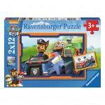 Puzzle 2 x 12 pièces : Pat'Patrouille : La Pat'Patrouille en action