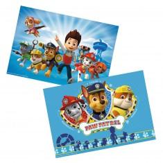 Puzzle 2 x 12 pièces : Pat'Patrouille : Ryder et la Pat'Patrouille