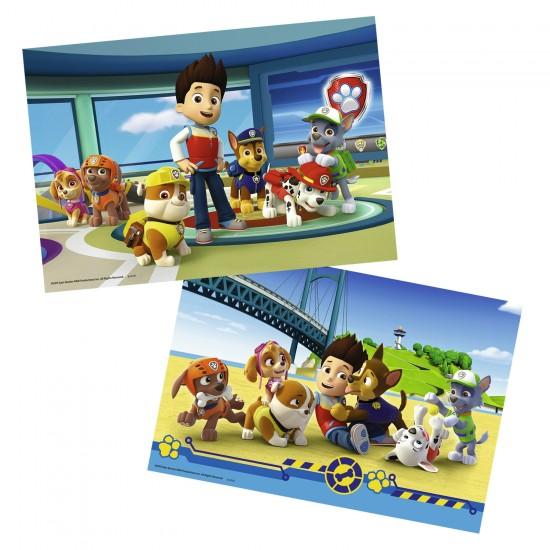 Puzzle 2 x 12 pièces : Pat'Patrouille : Ryder et ses amis - Ravensburger-07598