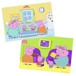 Puzzle 2 x 12 pièces : Peppa Pig : A la maison