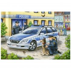Puzzle 2 x 12 pièces : Police et Pompiers