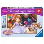 Puzzle 2 x 12 pièces : Princesse Sofia