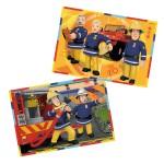 Puzzle 2 x 12 pièces : Sam le pompier : Sam en intervention