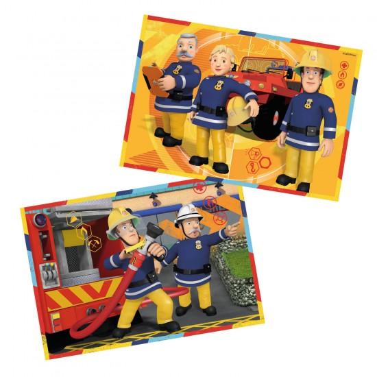 Puzzle 2 x 12 pièces : Sam le pompier : Sam en intervention - Ravensburger-07584