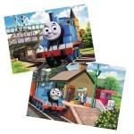 Puzzle 2 x 12 pièces : Thomas la locomotive