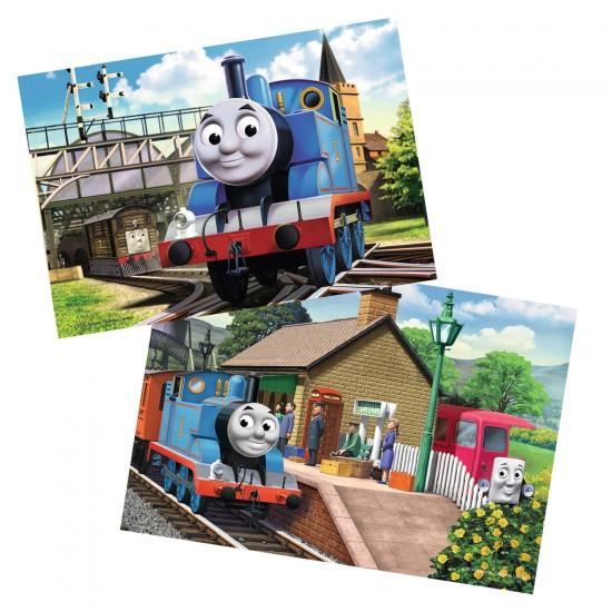 Puzzle 2 x 12 pièces : Thomas la locomotive - Ravensburger-07583