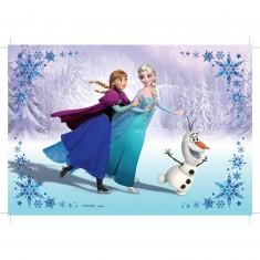 Puzzle 2 x 24 pièces : La Reine des Neiges (Frozen) : Soeurs pour Toujours