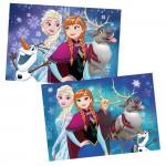 Puzzle 2 x 24 pièces : La Reine des Neiges (Frozen) : Aurores boréales