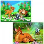 Puzzle 2 x 24 pièces : Mon ami Bambi