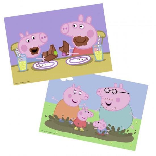 Puzzle 2 x 24 pièces : Peppa Pig : La vie de famille - Ravensburger-09082