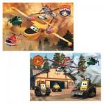 Puzzle 2 x 24 pièces : Planes : Toujours en action