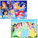 Puzzle 2 x 24 pièces : Princesses Disney : Les princesses réunies