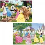 Puzzle 2 x 24 pièces : Princesses Disney : Princesses magiques