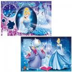 Puzzle 2 x 24 pièces : Princesses Disney : Ravissante Cendrillon