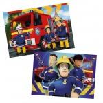 Puzzle 2 x 24 pièces : Sam le pompier : Sam t'aide dans le besoin