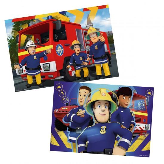 Puzzle 2 x 24 pièces : Sam le pompier : Sam t'aide dans le besoin - Ravensburger-09042
