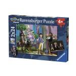 Puzzle 2 x 24 pièces : Super 4 en action Playmobil