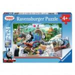 Puzzle 2 x 24 pièces : Thomas et ses amis : Thomas la locomotive