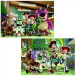 Puzzle 2 x 24 pièces : Toy Story 3 : Les jouets à la garderie