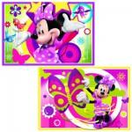 Puzzle 2 x 24 pièces : Une journée avec Minnie