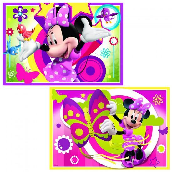 Puzzle 2 x 24 pièces : Une journée avec Minnie - Ravensburger-09047