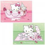Puzzle 2 x 24 pièces - Charmmy Kitty en chemin