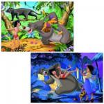 Puzzle 2 x 24 pièces - Les amis de Mowgli/Le livre de la jungle II