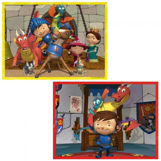 Puzzle 2 x 24 pièces : Mike le Chevalier - Ravensburger-09054