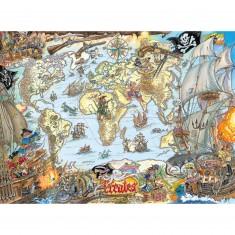 Puzzle 200 pièces : Carte de pirates